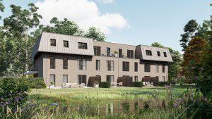 Bouwbedrijf Van Gastel nv, nieuwbouw De Pelicaen gelegen in de Sint-Maria-ten-Boslei 14 te Schoten